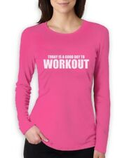 A Good day To Workout Women Long Sleeve T-Shirt Gym Training Workout Funny