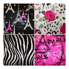 Paris Fabric-Pink Black White Eiffel Tower Zebra BEAUTIFUL Cotton-Quilting!!!