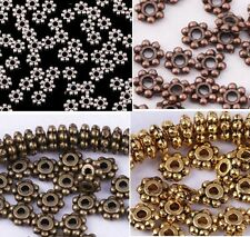 Wholesale 400pcs Tibetan Antique Silver/Golden/Bronze Daisy Spacer Bead 4mm
