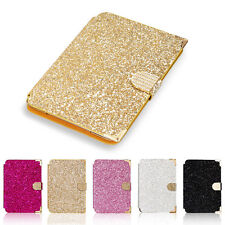 Smart Bling Diamond Card Slot Stand Folio Leather Case Cover For iPad mini