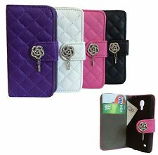 Shinny Bling Diamonds Leather Wallet Flip Case Cover For Samsung Apple Phones