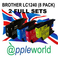 2 FULL SETS of LC1240 / LC1280 BROTHER Compatible Ink Cartridges [8 INKS]