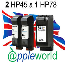 2 x HP45 Black & 1 x HP78 Colour High Capacity Ink Cartridges Deskjet Photosmart