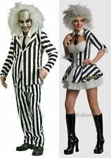 Beetlejuice Halloween Fancy Dress Costume Outfit Ladies Womens Mens Licensed
