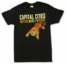"CAPITAL CITIES ""TIGER"" BLK T-SHIRT NEW IN A TIDAL WAVE OF MYSTERY OFFICIAL BAND"