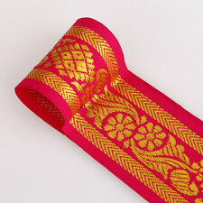 Neotrims Indian Cerise Floral Salwar Sari Length Trimming Ribbon Border Cheap