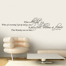 0066 - What A Delight It Is - Quote - Vinyl Wall Art - Sticker - Decal