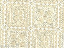 CREAM LACE VINYL OILCLOTH PLASTIC PVC WIPE CLEAN TABLE CLOTH CO click for sizes