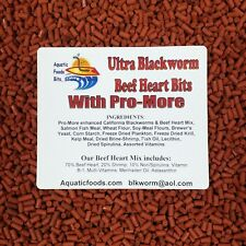 """Blackworm / Beef Heart Mix """"Baby Bits"""" for Discus, Cichlids, All types of Fish"""