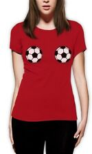 Soccer Football Bra Women T-Shirt Sexy Top Fan shirt World Cup 2014 Boobs Tee