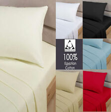 100% Egyptian Cotton 200 Thread Count Fitted Bed Sheet Single Double King S.King