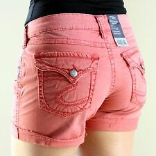 SILVER JEANS MCKENZIE RED SHORTS COLORED JEANS DENIM SIZES 26, 27, 28