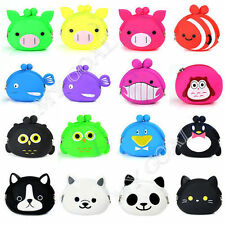Mini Candy Animal Shape Cartoon Silicone Coin Purse Cosmetic Bag Wallet Case New