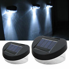 Solar Powered 2 / 8 LED Fence Gutter Light Lamp Outdoor Garden Yard Wall Pathway