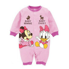 Infant Baby Boys Girls Button Long Sleeves Cartoon Rompers Jumpsuits 3-12 Mth