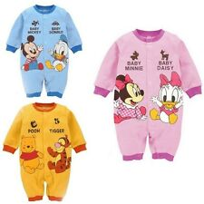 3-12Mth Gift Infant Baby Boy Girl Cartoon Rompers Button Long Sleeves Jumpsuits