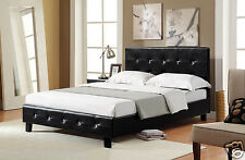 DIAMANTE BED DIAMOND CRYSTAL MODERN LEATHER BEDS SINGLE DOUBLE SIZE (4 colours)
