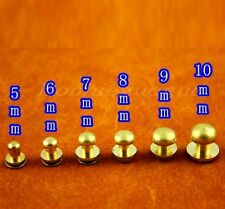 10 pack solid brass Screw In Button Studs Sam Browne~6 Stlye for you pick