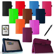 """Leather Case Cover Stand For Barnes & Noble Nook HD+ 9"""" inch + Protector + Pen"""