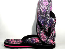 PURPLE PINK CAMO MUDDY GIRL WESTERN COWGIRL FLIP FLOPS SANDALS SHOE 7 8 9 10 11