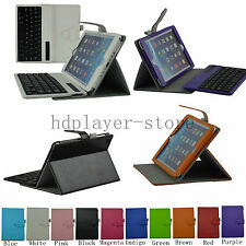 For Apple iPad Mini Stand Leather Case Cover With Detachable Bluetooth Keyboard