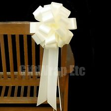 """6 LARGE PULL BOWS 9.5"""" WEDDING PEW CHAIR CENTERPIECE DECORATIONS PICK A COLOR"""