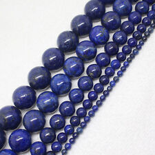 4-18mm Lapis Lazuli Round Gemstone Jewelry Making Loose Beads 15""