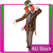 Alice In Wonderland Mad Hatter Mens Adult Fancy Dress Halloween Costume