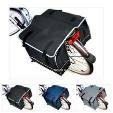 DOUBLE BICYCLE CYCLE PANNIER BAG REAR BIKE RACK CARRIER WATER RESISTANT NYLON