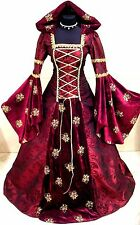 MEDIEVAL WEDDING DRESS S-M-L-XL-2XL-3XL GOTH ARWEN GREEN COSTUME TUDOR LOTR ROBE