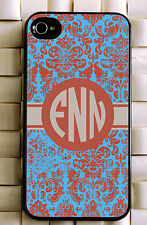 Monogrammed iPhone 5 case damask personalized cover iPhone 4 MG-016