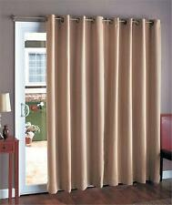 BLACKOUT NOISE REDUCING ENERGY SAVING PATIO FRENCH DOOR CURTAIN-3 COLORS AVAIL.