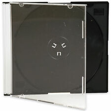 CD DVD Slimline Jewel 5.2mm Cases for 1 Disc With Black Tray