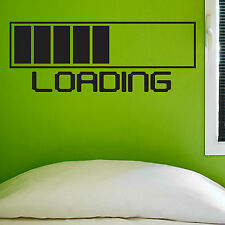 LOADING, LARGE WALL STICKER, Game, Computer, Decal, WallArt, SS700
