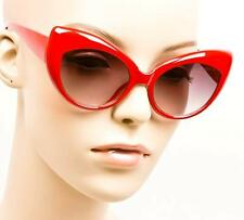 Vintage Style Pin Up Cat Eye Red Black Tortoise White Chic Sexy Sunglasses1434
