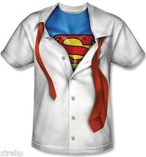 DC Comic Superman Sublimation Costume Adult Men T-Shirt LICENSED