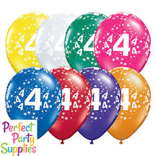 4th Birthday Star 1x 28cm Balloon Party Supplies Decorations Blue Purple Red