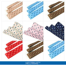 Neotrims Nautical Anchor Stars Grosgrain Petersham Ribbon 16, 25, 38mm by meter