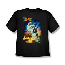 Back To The Future Poster T-Shirt Youth Boy Girl Black S M L Xl