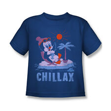 Chilly Willy Chillax Boy Girl Child T-Shirt Royal Blue S M L 4 5 6 7