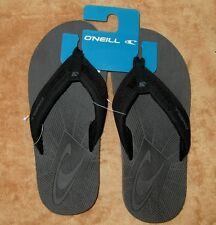 NEW ONEILL CRUISE  FLIP FLOP SANDALS BLACK/RED MEN'S SZ 7,