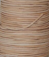 Natural (Undyed) - Round Leather Cord - BEST VALUE!