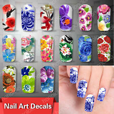 HOT! Beautiful Flowers Nail Art Nail Decals Water Transfer Stickers Decoration