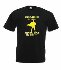 ZOMBIE SUPERHERO game funny super man Top NEW Top Boys Girls T SHIRT 1-15 Years