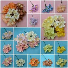 20, 50 PIECES MULBERRY PAPER LILY LILIUM FLOWER FOR CRAFT DIA. 3.5 cm/ 1.4 INCH