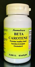 Beta Carotene, antioxidant, Vitamin A, Made in USA - 60 to 240 soft gels
