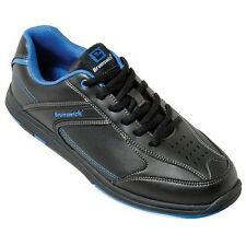 Brunswick Flyer Black/Mag Blue Mens Bowling Shoes