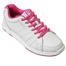 Brunswick Satin White/Pink Womens Bowling Shoes