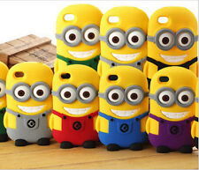 3D Cute Despicable Me Minion Case SILICONE Mobile Phone Cases Cover Protector *2