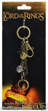 Official Lord Of The Rings Bag Clip / Key Ring with the One Ring Size 7 NECA